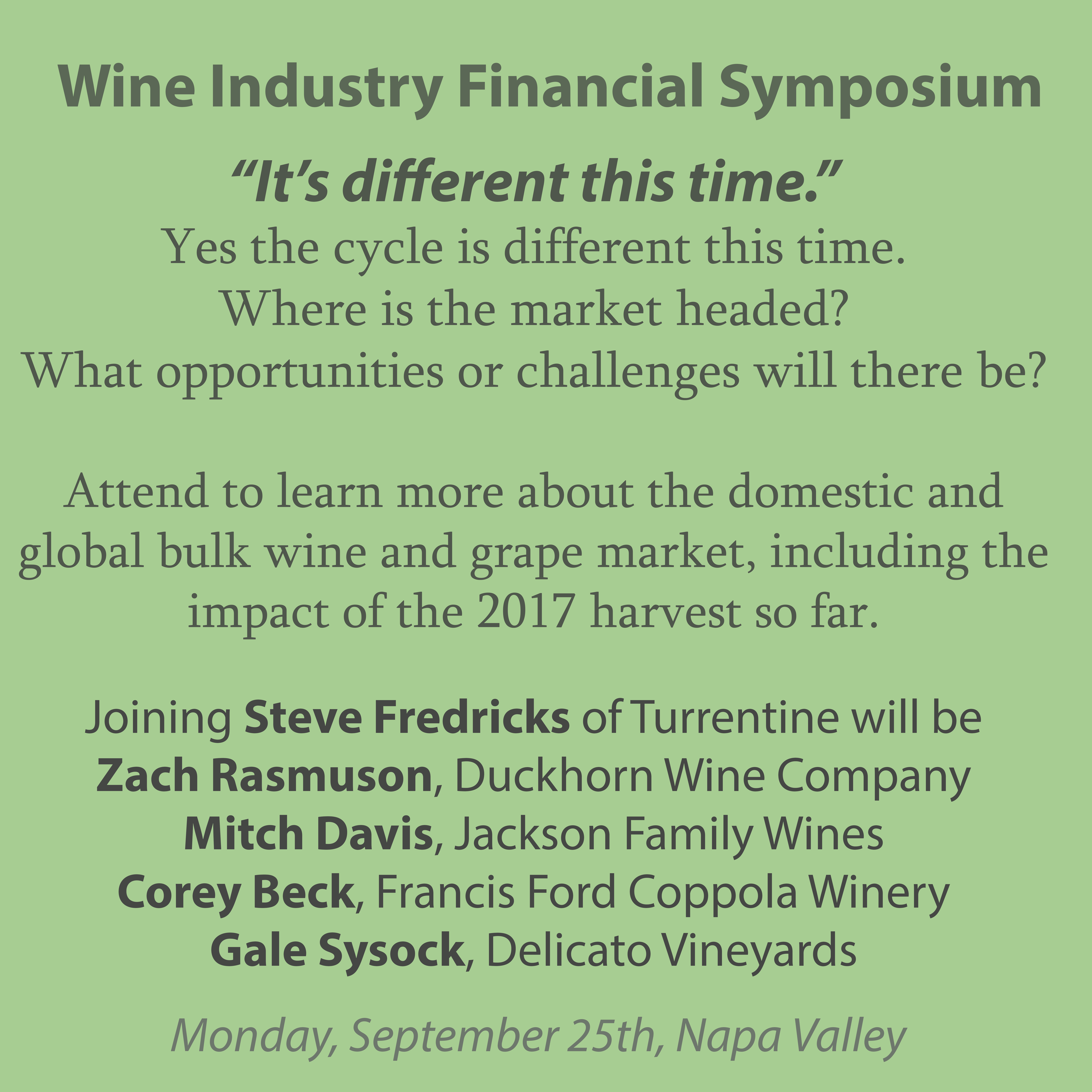 Wine Industry Financial Symposium