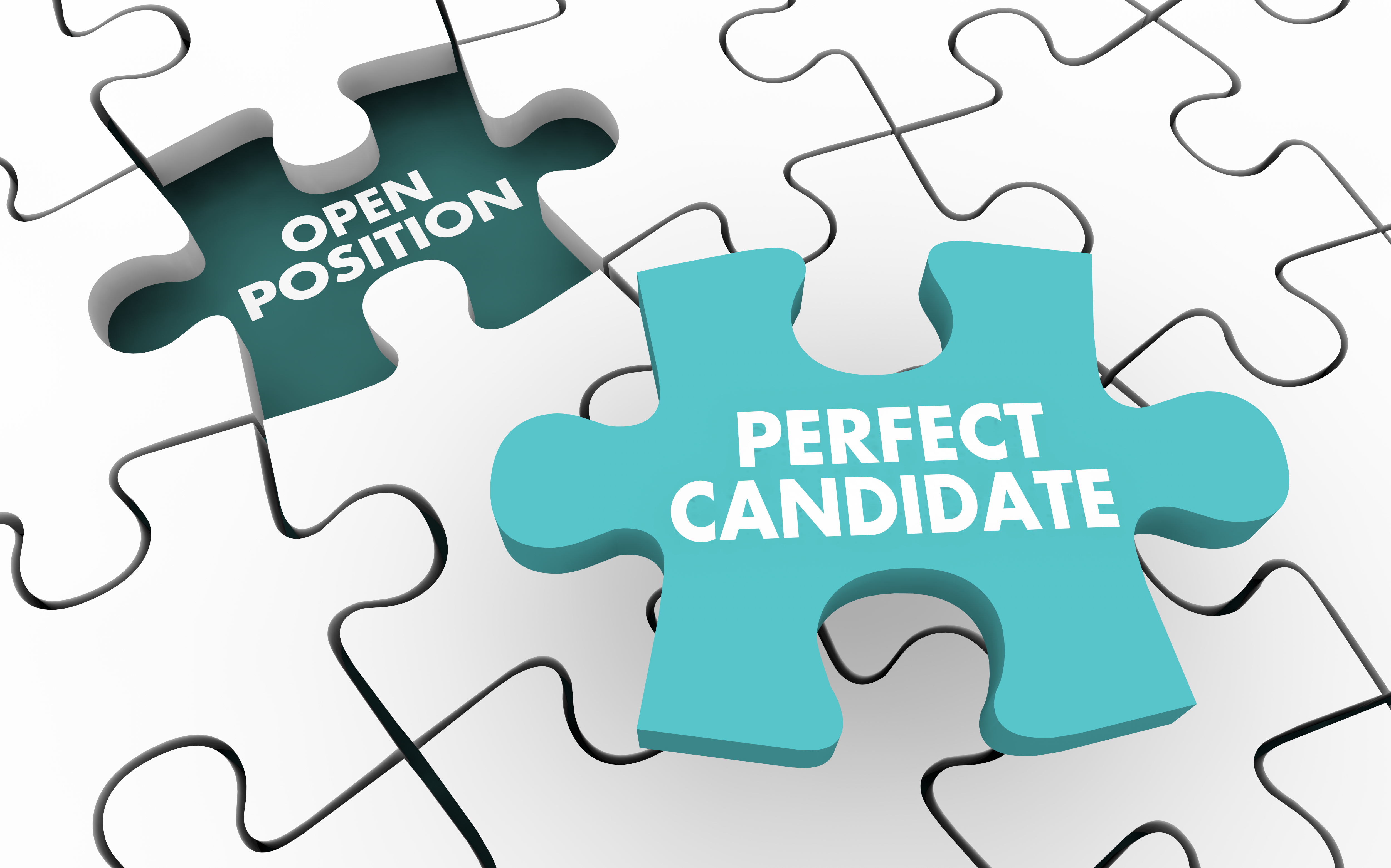 Perfect Candidate Hire Open Job Position Puzzle 3d Illustration